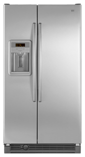 Maytag MSD2574VEM 25.2 cu. ft. Side by Side Refrigerator, Adjustable Spill-Catcher Glass Shelves, Humidity-Controlled Crispers, Deli Drawer, Fill-N-Chill Ice/Water Dispenser, Up-Front Sliding Controls
