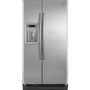 Maytag MSD2576VEA 25.3 cu. ft. Side by Side Refrigerator, Adjustable Spill-Catcher Glass Shelves, Beverage Chiller Compartment, Humidity-Controlled Crispers, Fill-N-Chill Ice/Water Dispenser, Up-Front Sliding Controls