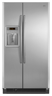 Maytag MSD2576VEM 25.3 cu. ft. Side by Side Refrigerator, Adjustable Spill-Catcher Glass Shelves, Beverage Chiller Compartment, Humidity-Controlled Crispers, Fill-N-Chill Ice/Water Dispenser, Up-Front Sliding Controls