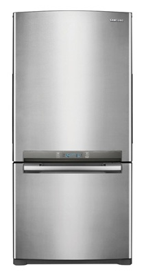 Samsung RB197ACPN 18.0 cu. ft. Counter-Depth Bottom-Freezer Refrigerator, 3 Glass Shelves, Twin Cooling System, Temperature Sensor, Power Freeze/Cool Options, Ice Maker, External Digital Display/Control