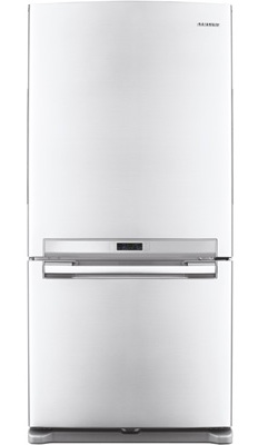 Samsung RF217ACBP 20.0 cu. ft. Bottom Freezer Refrigerator, Twin Cooling System, Power Freeze/Cool, LED Lighting, Ice Maker, 33