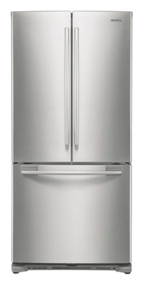 Samsung RF197ACPN 17.8 cu. ft. Counter-Depth French Door Refrigerator, 3 Adjustable Glass Shelves, Humidity Controlled Crispers, Ice Maker, LED Lighting, Internal Digital Display