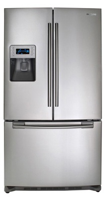 Samsung RF26XAERS 26 cu. ft. French Door Refrigerator, 5 Spill Proof Glass Shelves, Power Freeze/Power Cool, Cool Tight Door, Premium External Water/Ice Dispenser, Digital Display