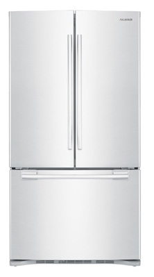 Samsung RFG293HAWP 29 cu. ft. French Door Refrigerator, 5 Spill Proof Glass Shelves, Power Freeze/Cool, Cool Select Pantry w/ Temp. Control, Wine Rack, Internal Ice Dispenser
