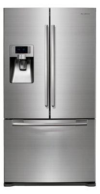 Samsung RFG297AARS 28.5 cu. ft. French-Door Refrigerator, 5 Glass Shelves, Spill Proof, Twin Cooling Plus, CoolSelect Pantry, Power Freeze/Cool Options, External Ice/Water Dispenser, LED Display