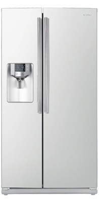Samsung RS263TDWP 26 cu. ft. Side by Side Refrigerator, 4 Glass Shelves, LED Lighting, Twin Cooling System, Power Freeze/Cool Options, Compact Icemaker, External Water/Ice Dispenser