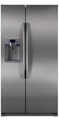 Samsung RSG257AARS 24.1 cu. ft. Counter-Depth Side by Side Refrigerator, Twin Cooling Plus, Power Freeze/Cool Options, External Ice/Water Dispenser, In-Door Ice Maker, LED Lighting, Wine Rack