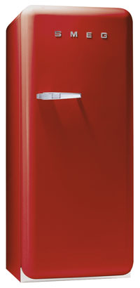 Smeg FAB28UR 9.22 cu. ft. 50's Style Refrigerator, Antibacterial Interior, Ice Compartment, Adjustable Glass Shelves