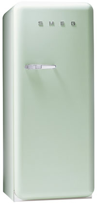 Smeg FAB28UV 9.22 cu. ft. 50's Style Refrigerator, Antibacterial Interior, Ice Compartment, Adjustable Glass Shelves
