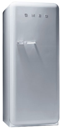 Smeg FAB28UX 9.22 cu. ft. 50's Style Refrigerator, Antibacterial Interior, Ice Compartment, Adjustable Glass Shelves