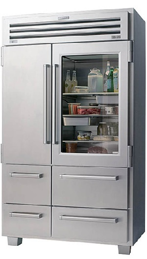 ... cu ft Built In Side By Side Refrigerator Stainless Steel, Glass Door