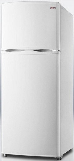 Summit FF1062W 9.4 cu. ft. Counter-Depth Top-Freezer Refrigerator, Adjustable Glass Shelves, Turbo Flow Air System, Energy Efficient Design