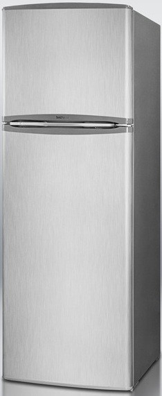 Summit FF1325SS 10.2 cu. ft. Counter-Depth Top-Freezer Refrigerator, Adjustable Glass Shelves, Door Storage, Large Freezer Compartment