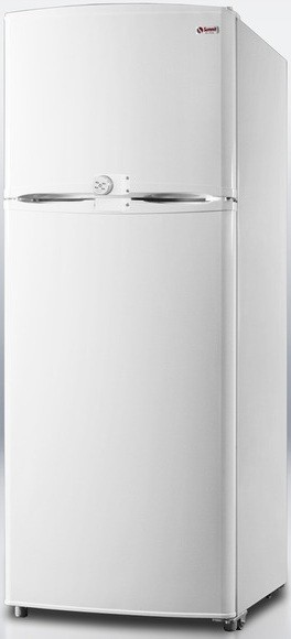 Summit FF1410LLF2 12.5 cu. ft. Counter-Depth Top-Freezer Refrigerator, Adjustable Glass Shelves, Adjustable Door Storage, Adjustable Thermostat