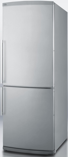 Summit FFBF285SSIM 13.8 cu. ft. Counter-Depth Bottom-Freezer Refrigerator, Adjustable Glass Shelves, Wine Shelf, Quick Freezer Compartment, Frost Free with Ice Maker