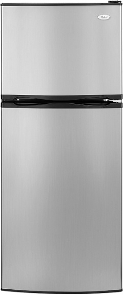 Whirlpool ET0MSRXTL 9.7 cu. ft. Top-Freezer Refrigerator, 2 Glass Shelves, Clear Humidity-Controlled Crisper, Reversible Door Swing