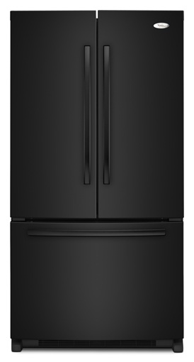 Whirlpool GX5FHDXVB 24.8 cu. ft. French Door Refrigerator, SpillProof Shelves, IceMaker, Automatic Defrost, Black