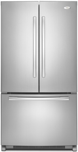 Whirlpool GX5FHDXVY 24.8 cu. ft. French Door Refrigerator, SpillProof Shelves, IceMaker, Automatic Defrost, Monochromatic Stainless Steel