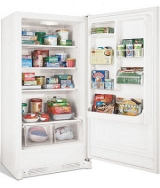 Frigidaire Fkch17f7hw 16 7 Cu Ft Convertible Upright Freezer Refrigerator More